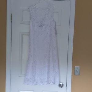 Apt. 9 white lace dress NWT
